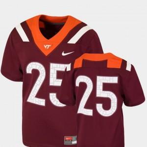 Virginia Tech Hokies Jersey Youth(Kids) Maroon Team Replica College Football #25