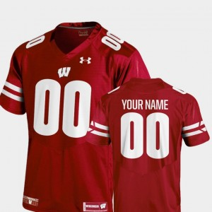 Wisconsin Badgers Customized Jerseys College Football 2018 Replica Kids Red #00
