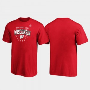 Wisconsin Badgers T-Shirt 2020 Rose Bowl Bound For Kids Red Tackle